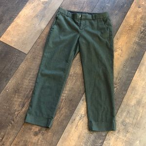 Banana Republic Avery Green Cuff Ankle Slim Pants